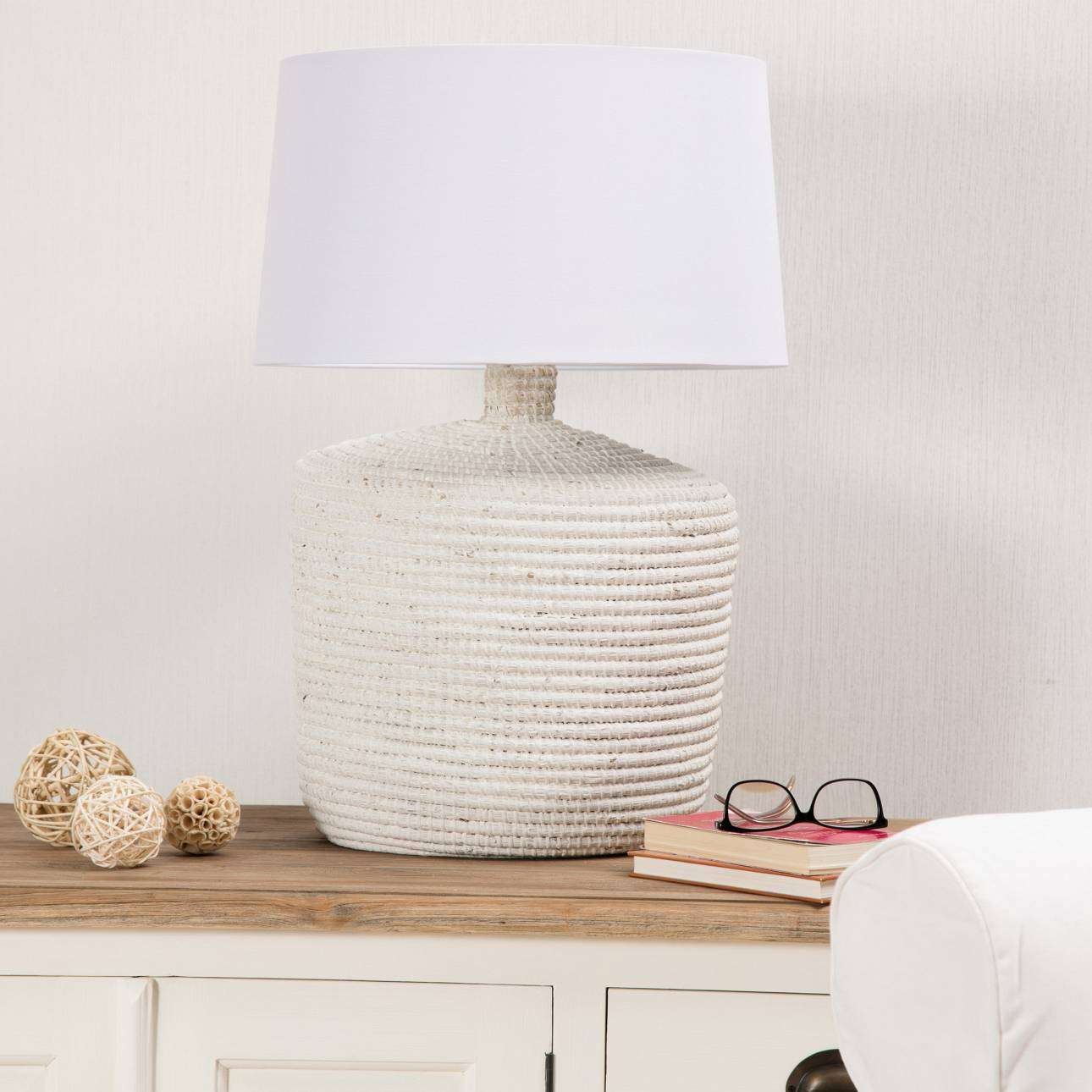 Lampa stołowa Coastal White wys. 66cm