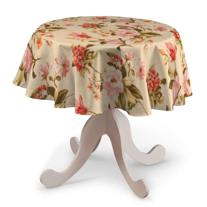 Runde Tischdecke von der Kollektion Londres, Stoff: 123-05