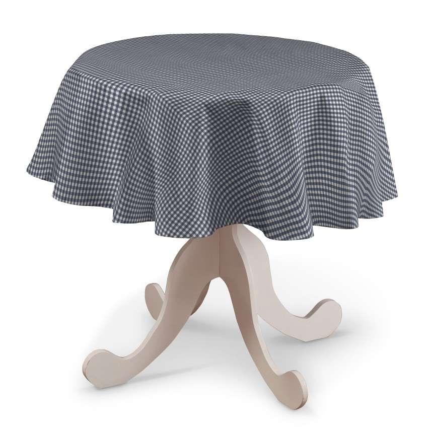 Pyöreä pöytäliina mallistosta Quadro, Kangas: 136-00