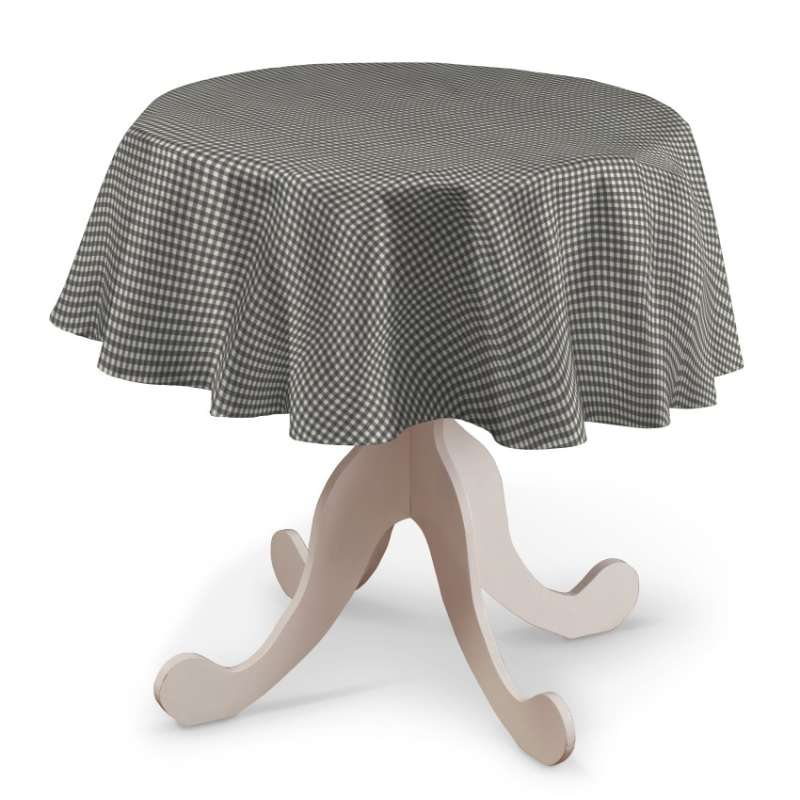 Round tablecloth in collection Quadro, fabric: 136-10