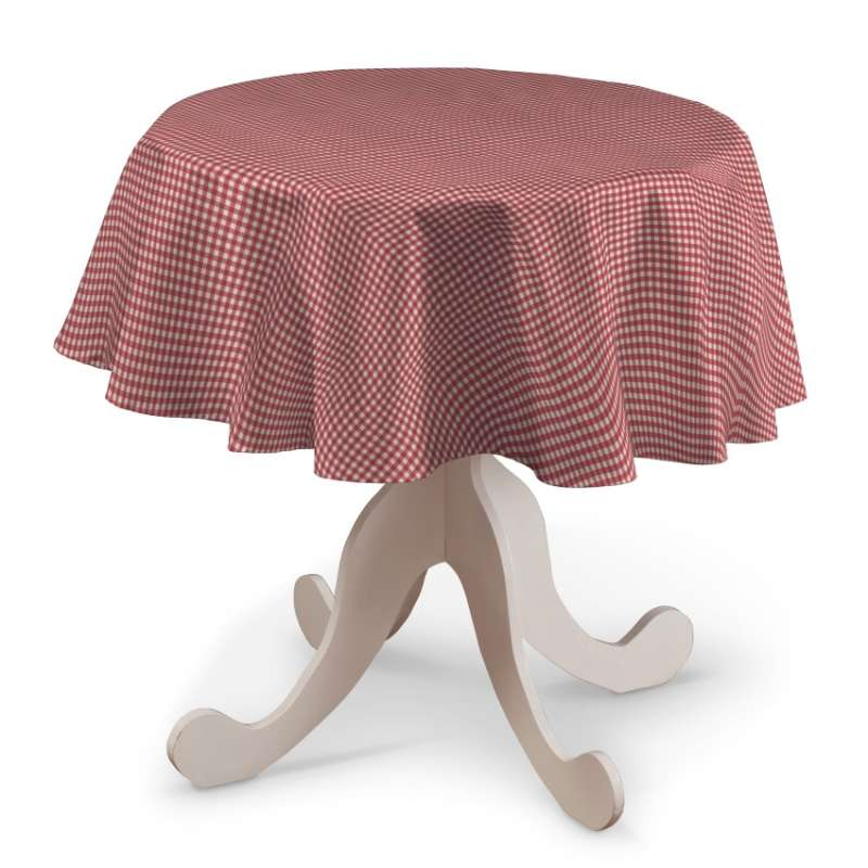 Round tablecloth in collection Quadro, fabric: 136-15