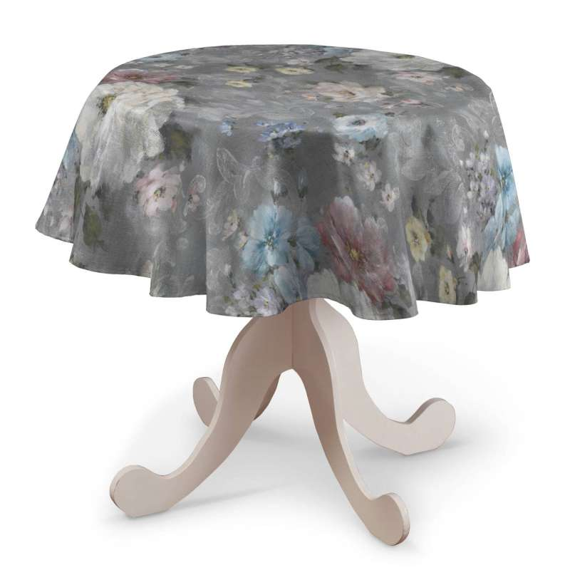 Round tablecloth in collection Monet, fabric: 137-81
