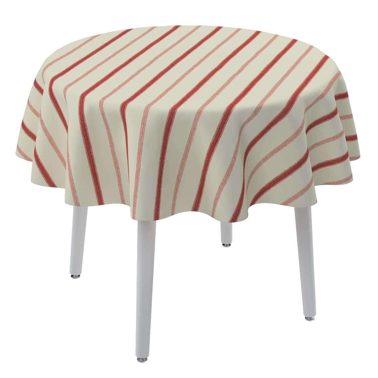 Rund bordsduk i kollektionen Avinon, Tyg: 129-15