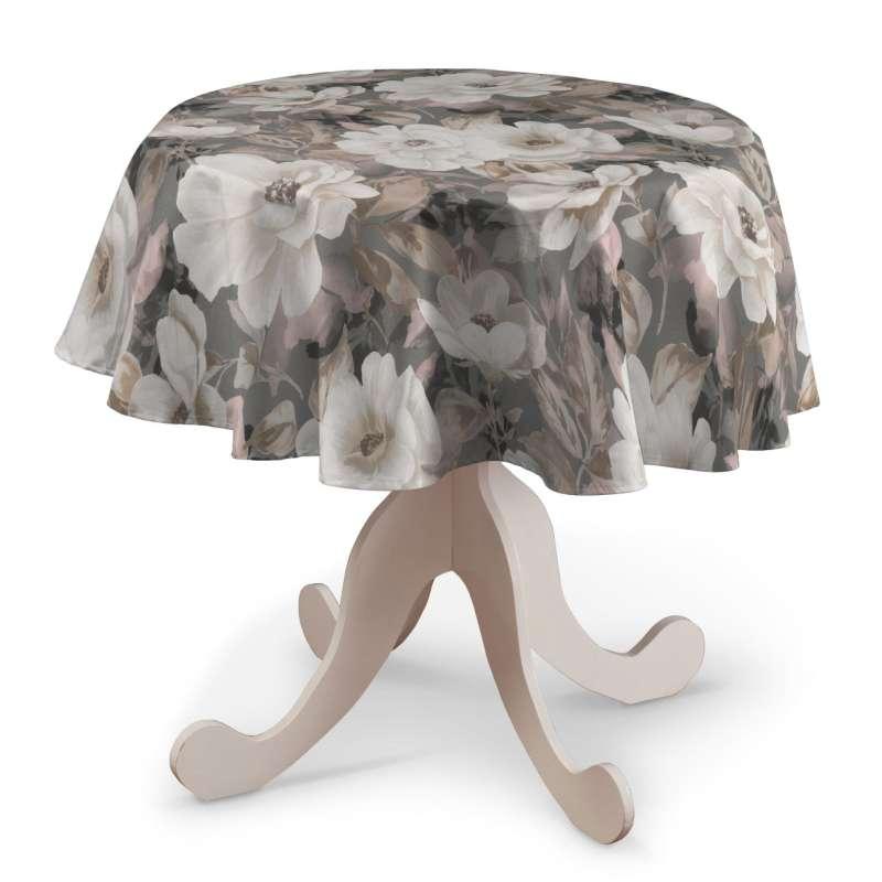 Runde borddug fra kollektionen Gardenia, Stof: 142-13