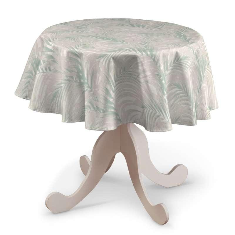 Runde borddug fra kollektionen Gardenia, Stof: 142-15