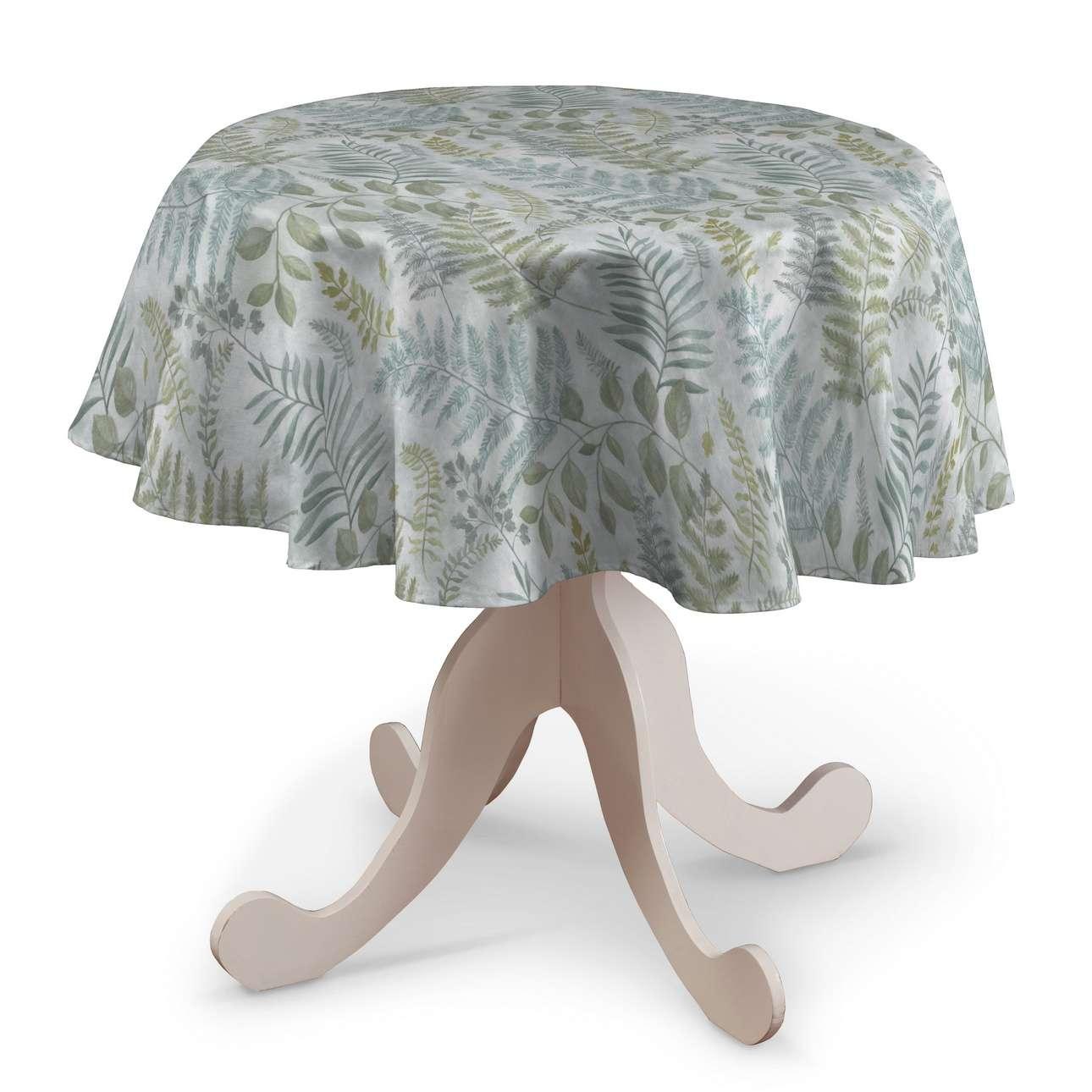 Pyöreä pöytäliina mallistosta Pastel Forest, Kangas: 142-46