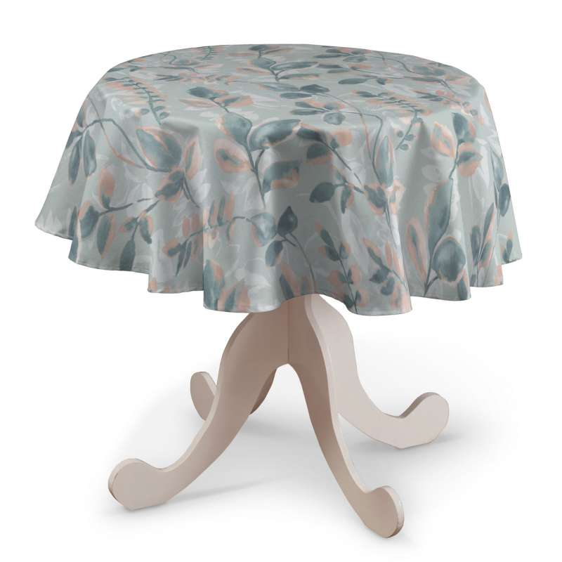 Round tablecloth in collection Pastel Forest, fabric: 142-52