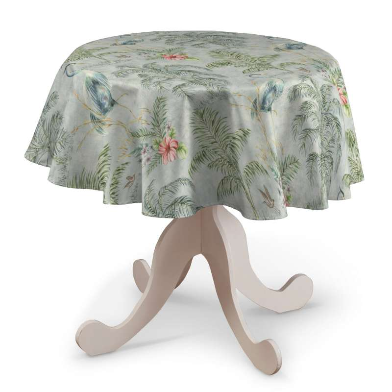 Round tablecloth in collection Tropical Island, fabric: 142-58