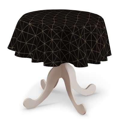 Rund bordduk fra kolleksjonen Black & White, Stoffets bredde: 142-55