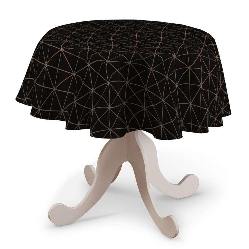 Pyöreä pöytäliina mallistosta Black & White, Kangas: 142-55