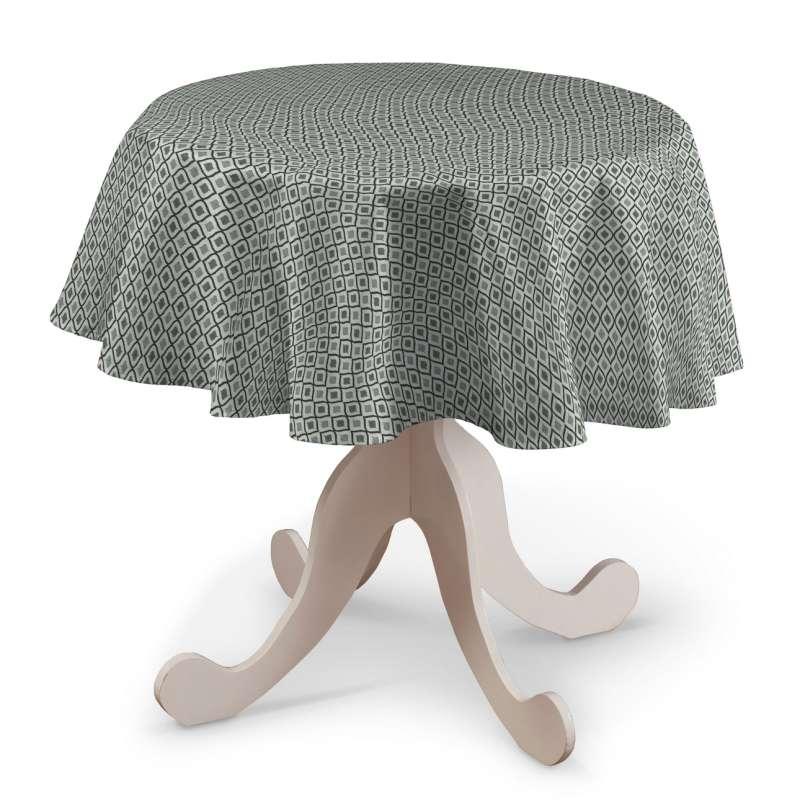Runde borddug fra kollektionen Black & White, Stof: 142-76