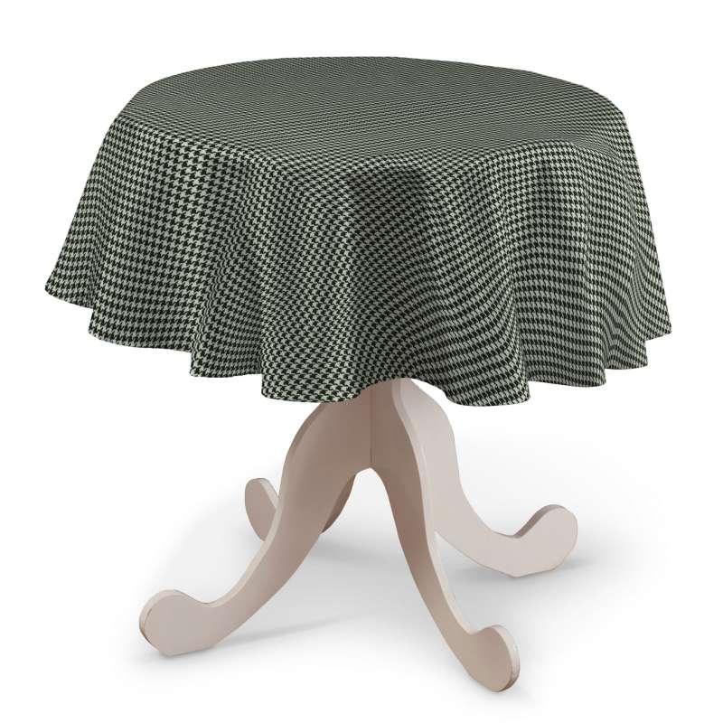 Runde borddug fra kollektionen Black & White, Stof: 142-77