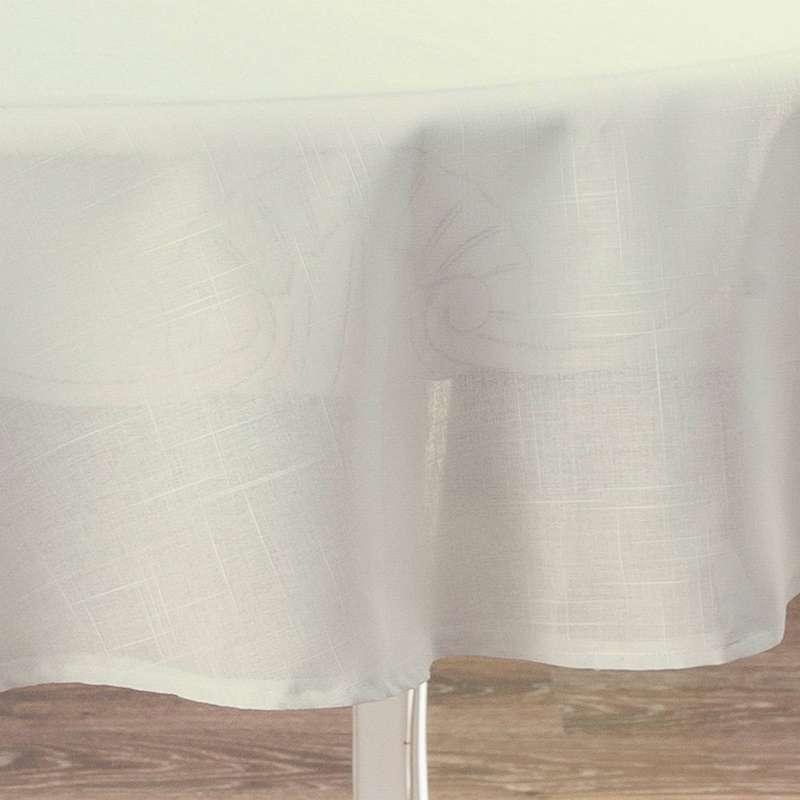 Runde Tischdecke von der Kollektion Romantica, Stoff: 128-88