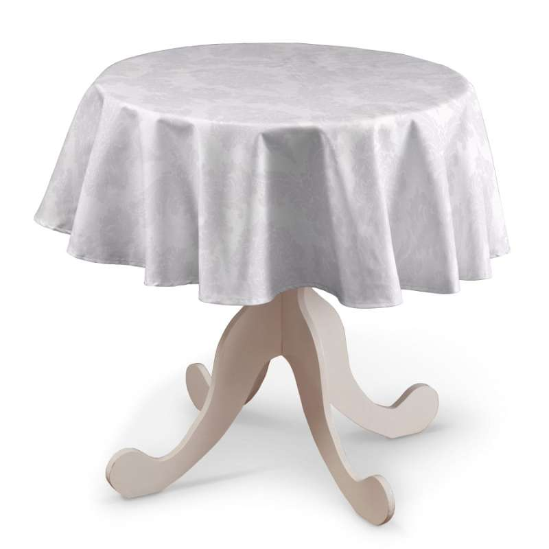 Round tablecloth in collection Damasco, fabric: 613-00