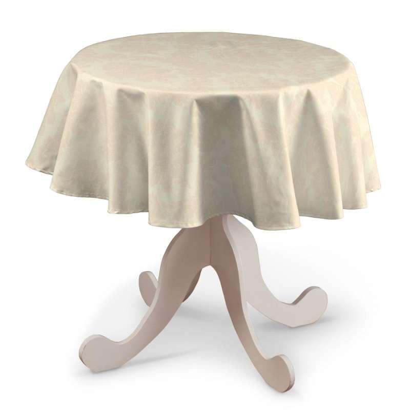 Runde Tischdecke von der Kollektion Damasco, Stoff: 613-01