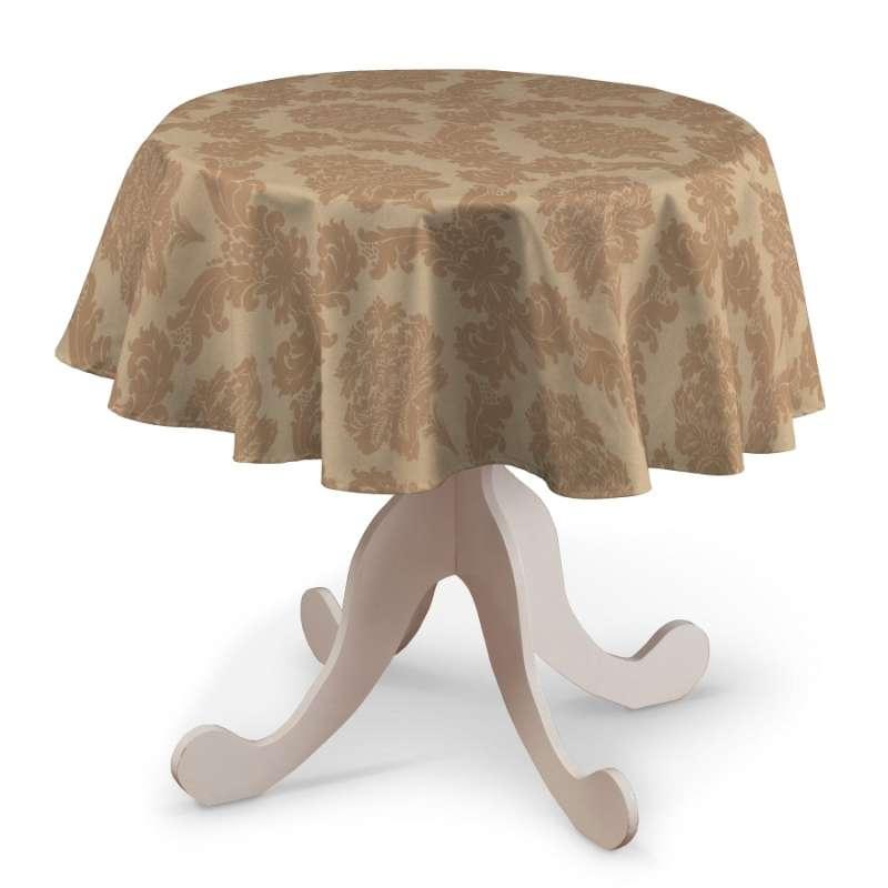 Runde Tischdecke von der Kollektion Damasco, Stoff: 613-04
