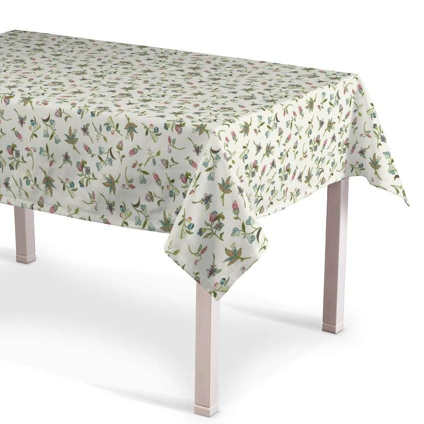 Rektangulær bordduk fra kolleksjonen Londres , Stoffets bredde: 122-02