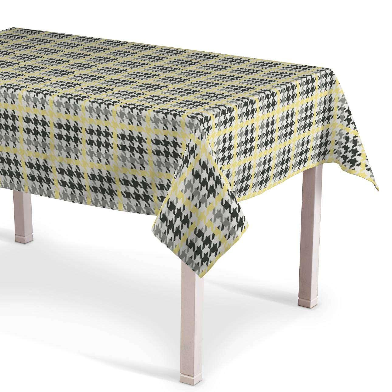 Rektangulær bordduk fra kolleksjonen Brooklyn , Stoffets bredde: 137-79