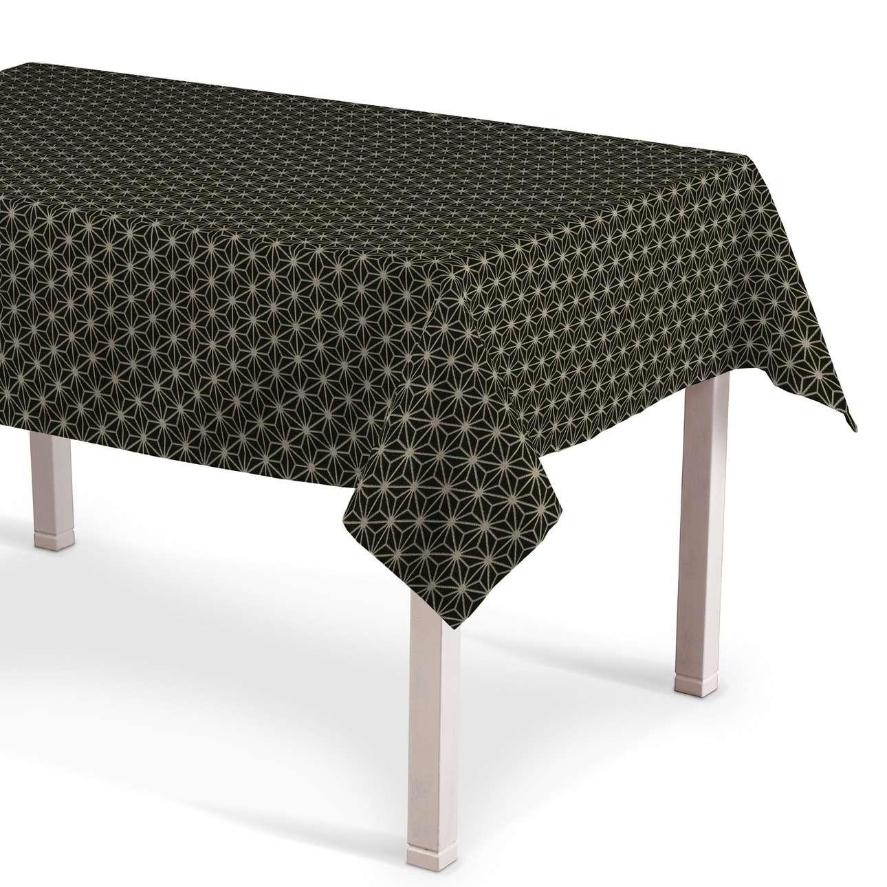 Rektangulær bordduk fra kolleksjonen Black & White, Stoffets bredde: 142-56