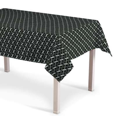 Rektangulær bordduk fra kolleksjonen Black & White, Stoffets bredde: 142-87