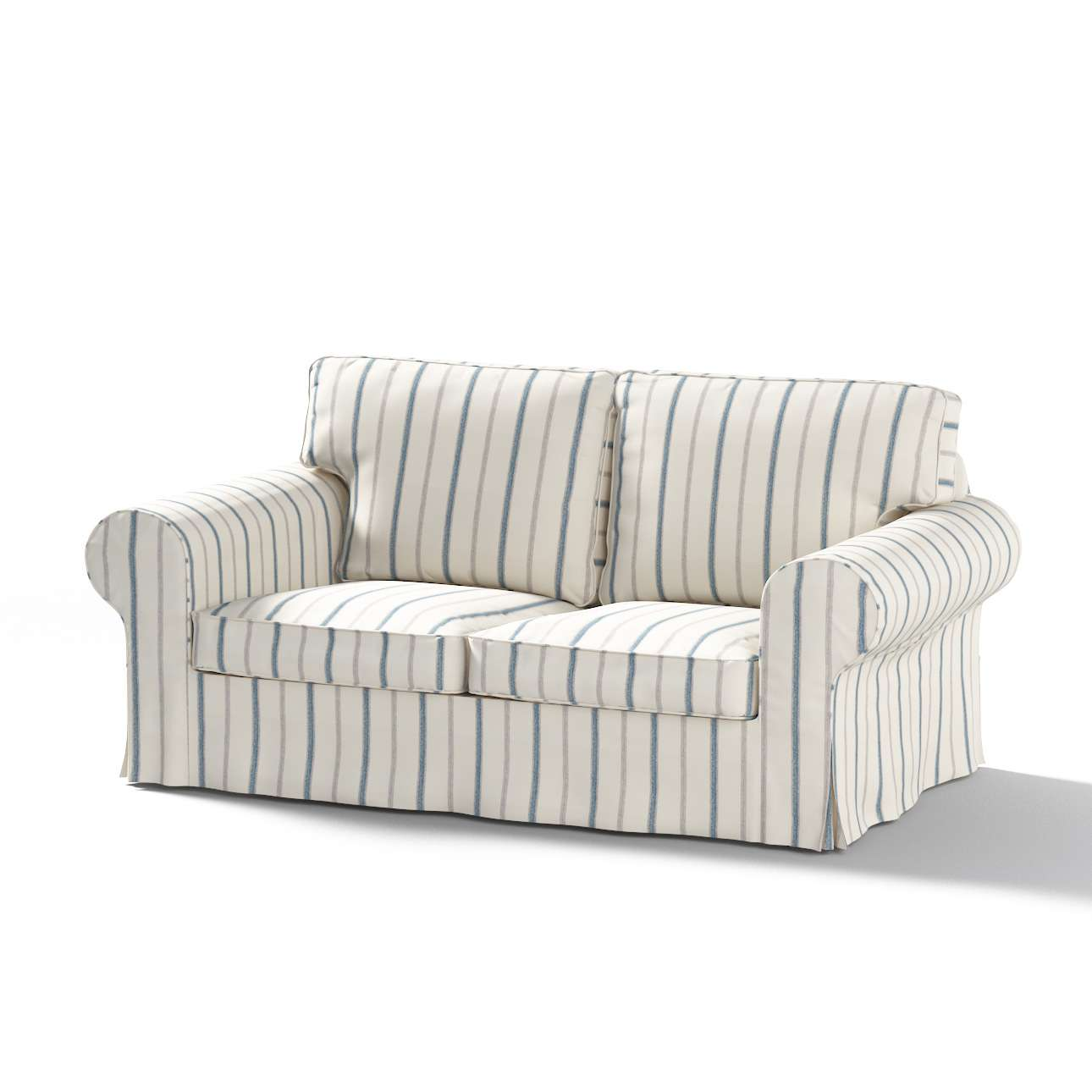Picture of: Ektorp 2 Seater Sofa Cover Blue Stripes Ivory Background 129 66 Ektorp 2 Seat Sofa Cover Dekoria