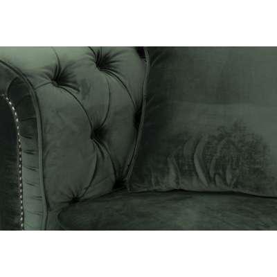 Sofa Chesterfield Classic Velvet Deep Forest 3-os.