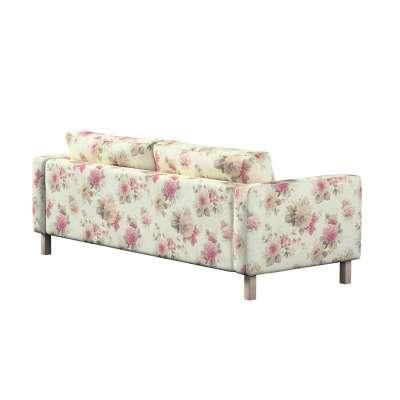 Pokrowiec na sofę Karlstad 3-osobową nierozkładaną, krótki w kolekcji Londres, tkanina: 141-07