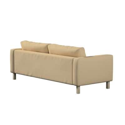 Pokrowiec na sofę Karlstad 3-osobową nierozkładaną, krótki w kolekcji Cotton Panama, tkanina: 702-01