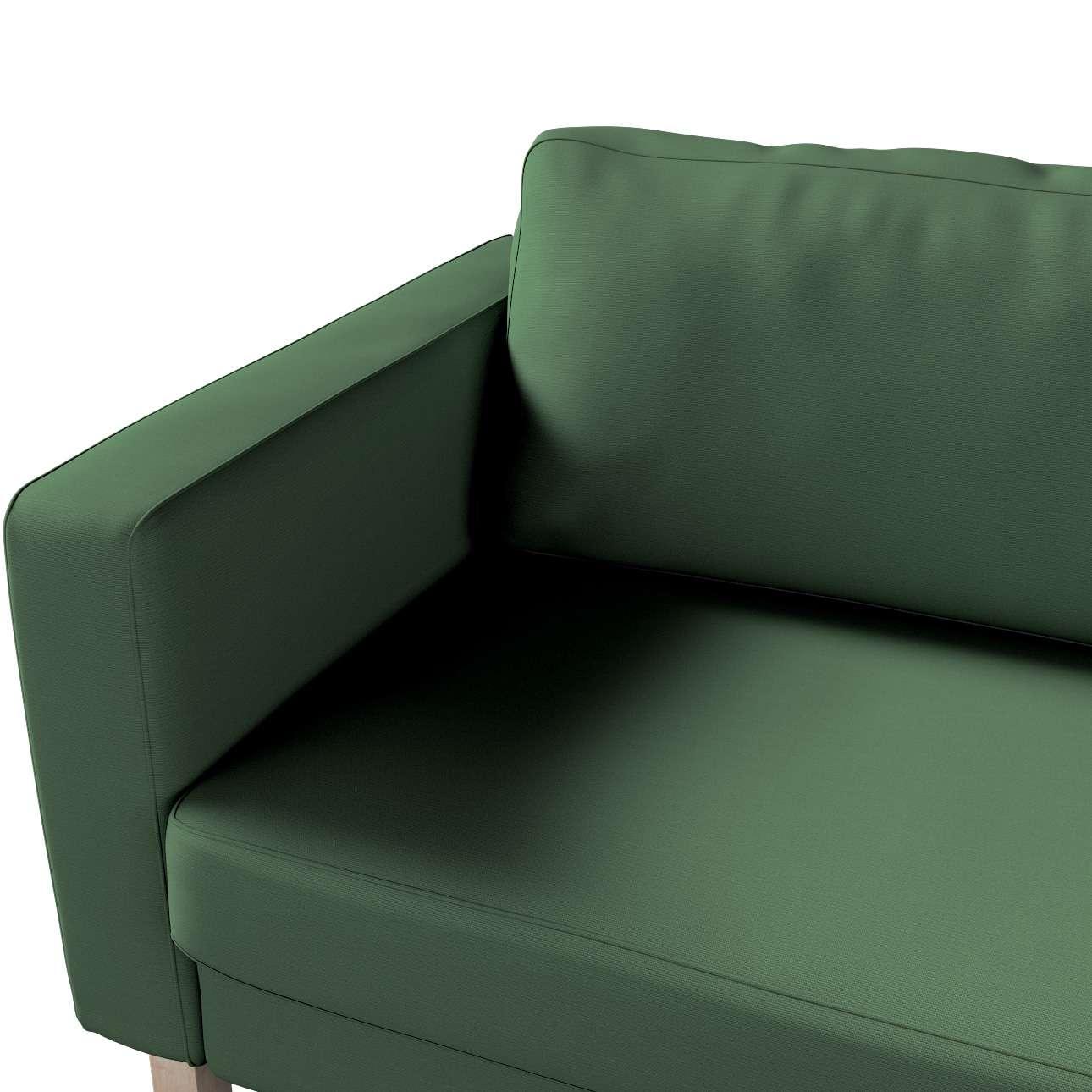 Pokrowiec na sofę Karlstad 3-osobową nierozkładaną, krótki w kolekcji Cotton Panama, tkanina: 702-06