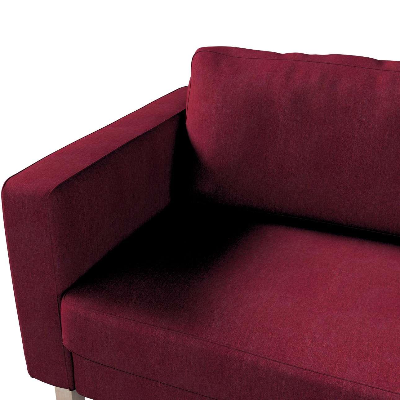 Pokrowiec na sofę Karlstad 3-osobową nierozkładaną, krótki w kolekcji Chenille, tkanina: 702-19