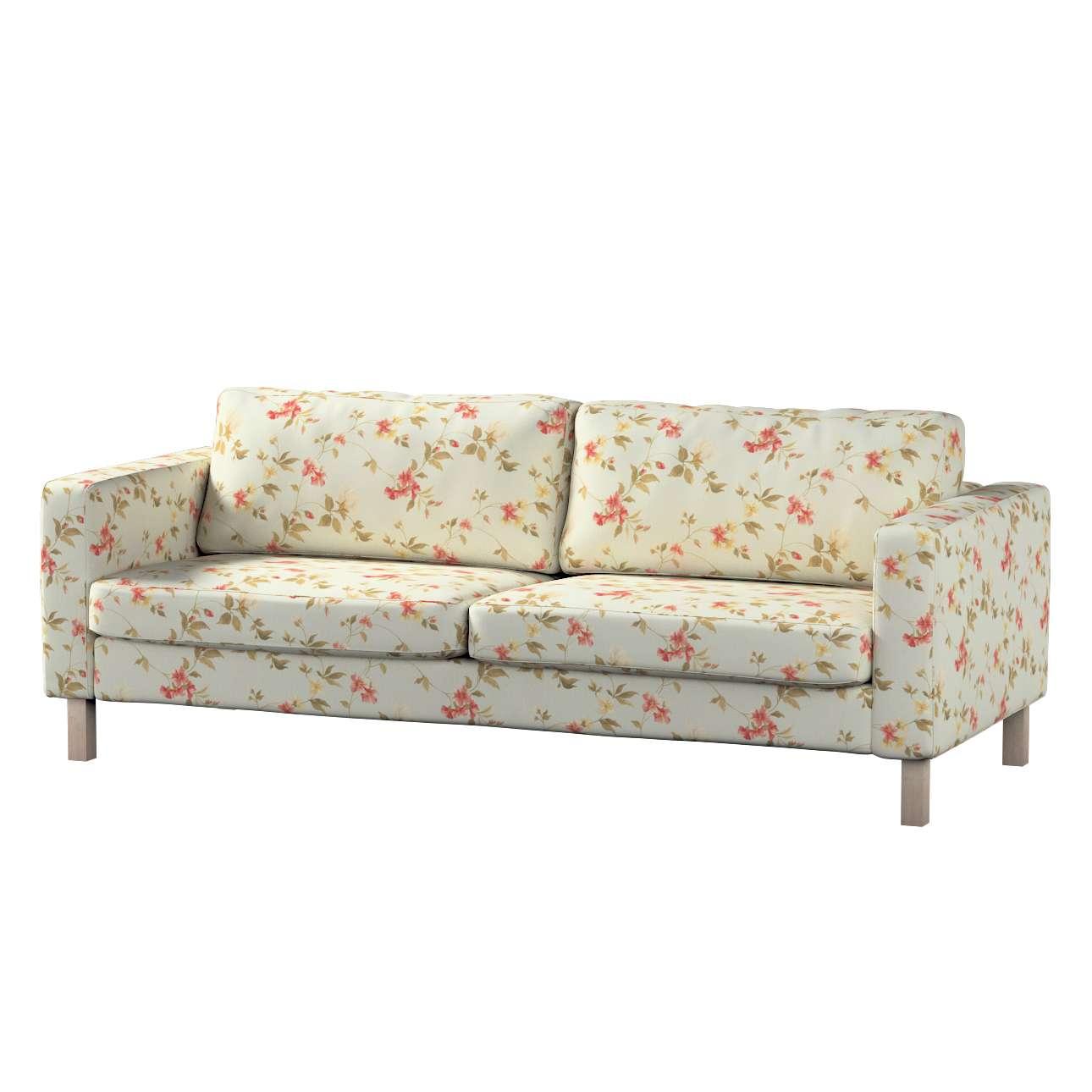Pokrowiec na sofę Karlstad 3-osobową nierozkładaną, krótki w kolekcji Londres, tkanina: 124-65