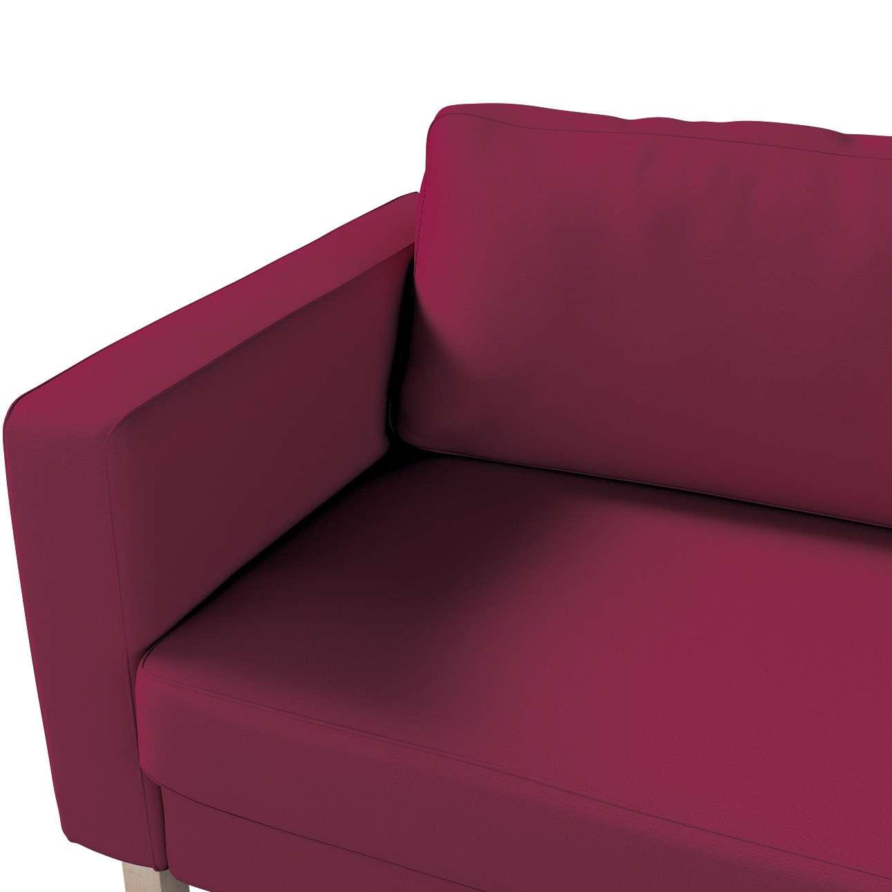 Pokrowiec na sofę Karlstad 3-osobową nierozkładaną, krótki w kolekcji Cotton Panama, tkanina: 702-32