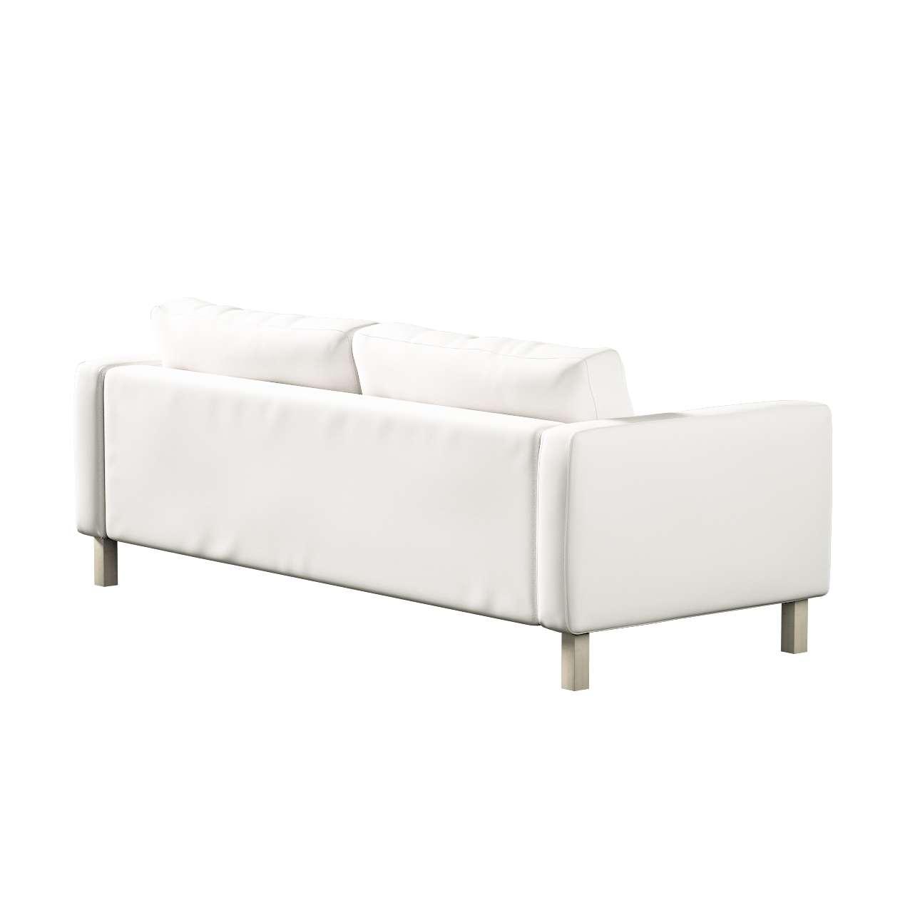 Pokrowiec na sofę Karlstad 3-osobową nierozkładaną, krótki w kolekcji Cotton Panama, tkanina: 702-34