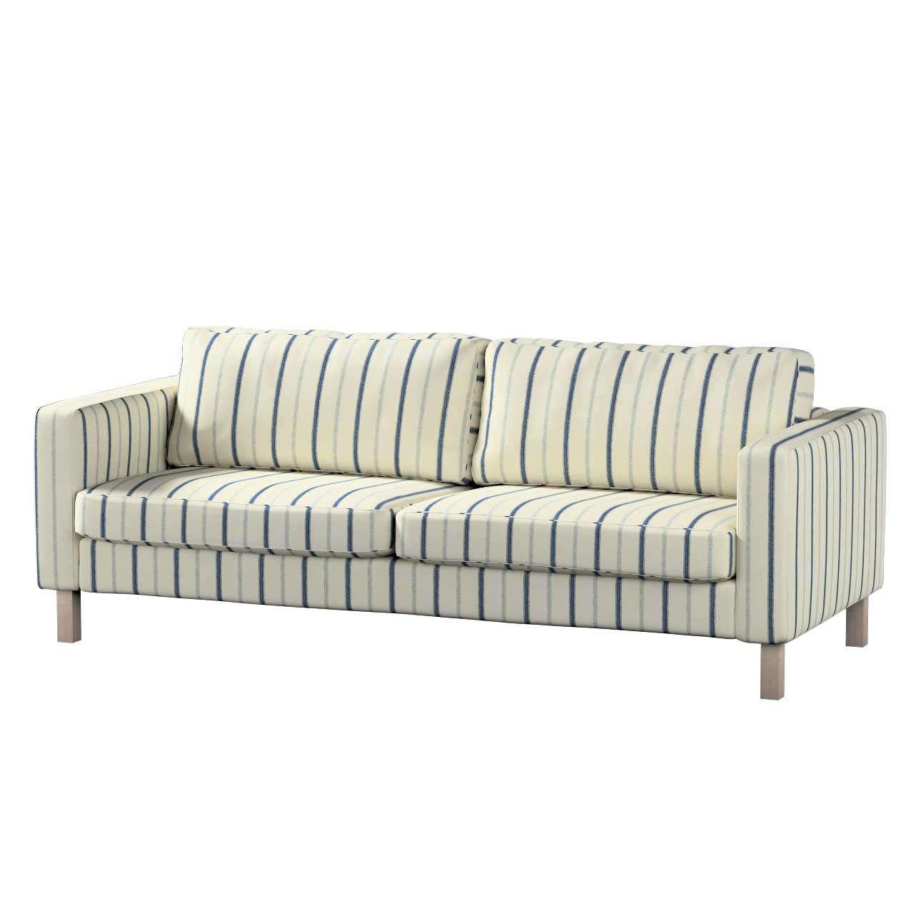 Pokrowiec na sofę Karlstad 3-osobową nierozkładaną, krótki w kolekcji Avinon, tkanina: 129-66
