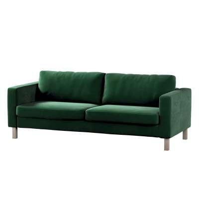 Pokrowiec na sofę Karlstad 3-osobową nierozkładaną, krótki w kolekcji Velvet, tkanina: 704-13
