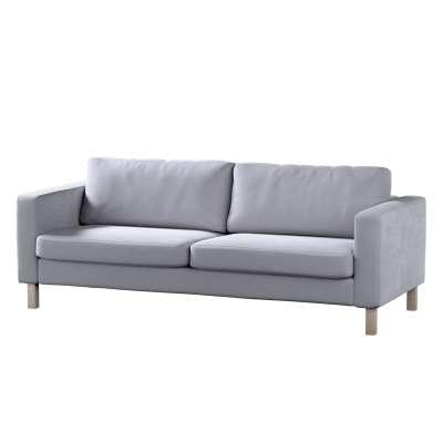 Pokrowiec na sofę Karlstad 3-osobową nierozkładaną, krótki w kolekcji Velvet, tkanina: 704-24