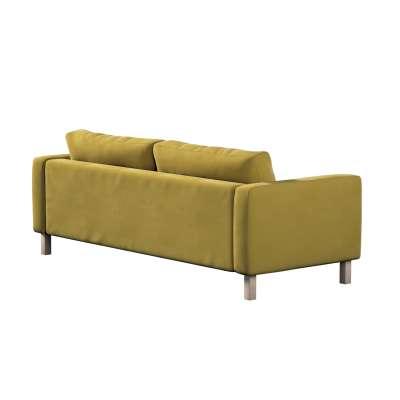 Pokrowiec na sofę Karlstad 3-osobową nierozkładaną, krótki w kolekcji Velvet, tkanina: 704-27
