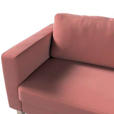 Pokrowiec na sofę Karlstad 3-osobową nierozkładaną, krótki w kolekcji Velvet, tkanina: 704-30