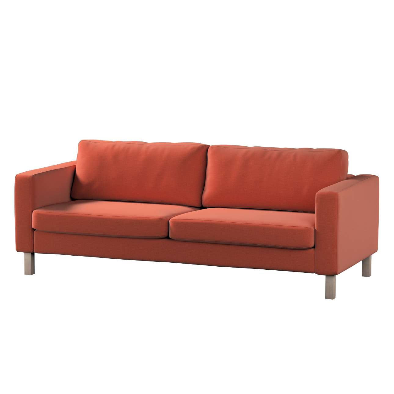 Pokrowiec na sofę Karlstad 3-osobową nierozkładaną, krótki w kolekcji Ingrid, tkanina: 705-37