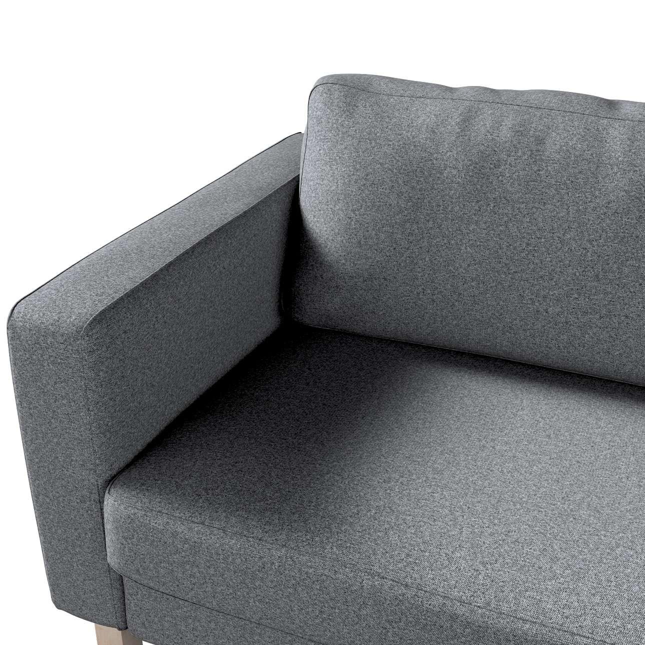Pokrowiec na sofę Karlstad 3-osobową nierozkładaną, krótki w kolekcji Amsterdam, tkanina: 704-47