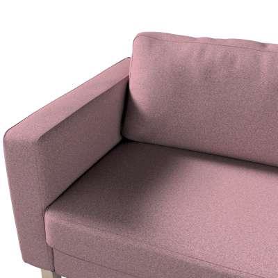 Pokrowiec na sofę Karlstad 3-osobową nierozkładaną, krótki w kolekcji Amsterdam, tkanina: 704-48