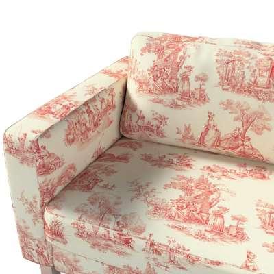 Pokrowiec na sofę Karlstad 3-osobową nierozkładaną, krótki w kolekcji Avinon, tkanina: 132-15
