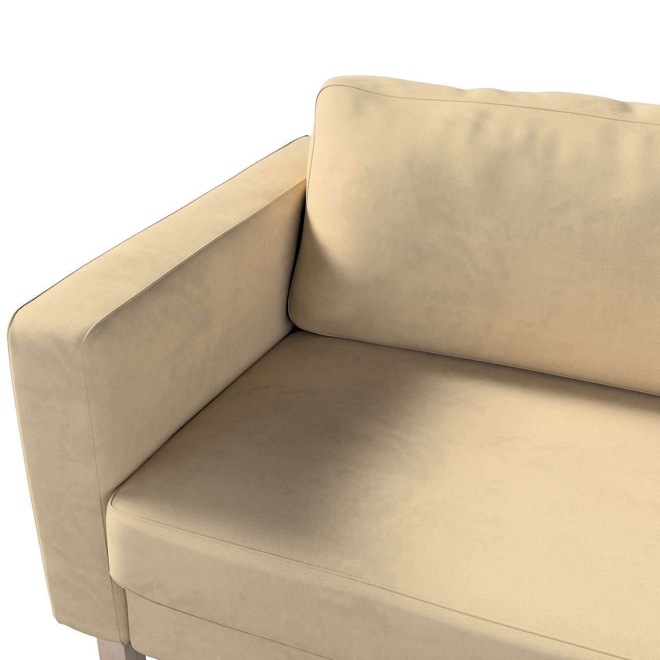 Pokrowiec na sofę Karlstad 3-osobową nierozkładaną, krótki w kolekcji Living, tkanina: 160-82