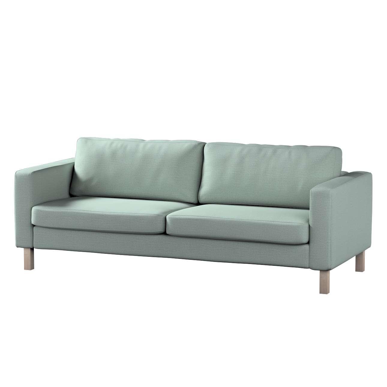 Pokrowiec na sofę Karlstad 3-osobową nierozkładaną, krótki w kolekcji Living, tkanina: 160-86