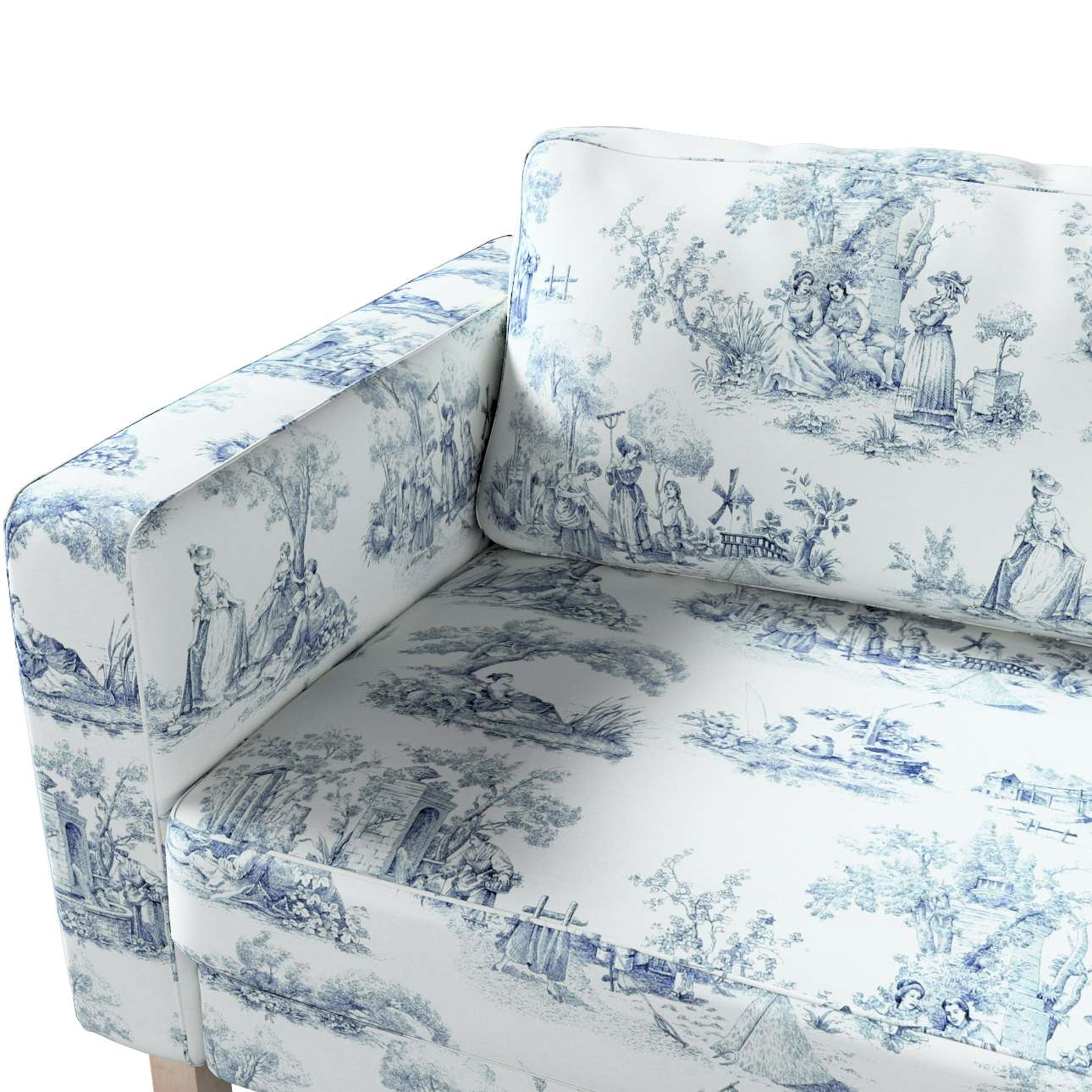 Karlstad klädsel<br>3-pers. soffa - kort - 204cm i kollektionen Avinon, Tyg: 132-66