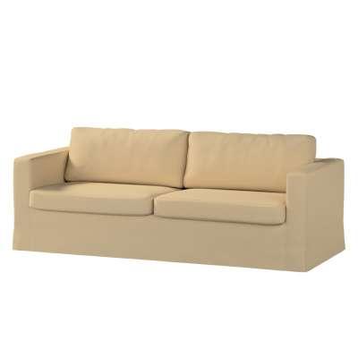Karlstad klädsel 3-pers. soffa -  lång - 204cm i kollektionen Panama Cotton, Tyg: 702-01