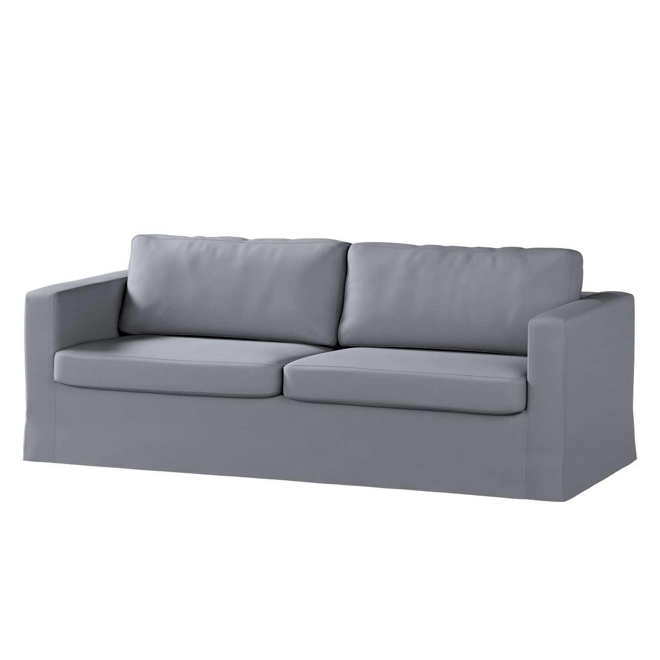 Karlstad klädsel 3-pers. soffa -  lång - 204cm i kollektionen Panama Cotton, Tyg: 702-07