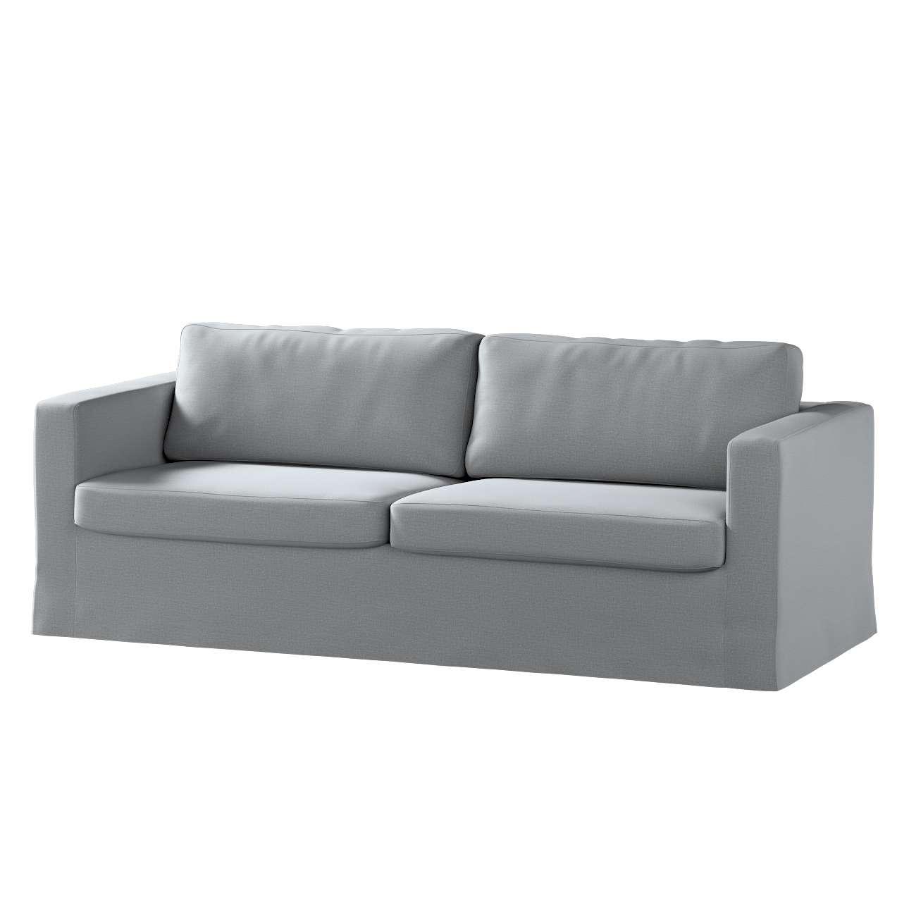 Karlstad klädsel 3-pers. soffa -  lång - 204cm i kollektionen Ingrid, Tyg: 705-42