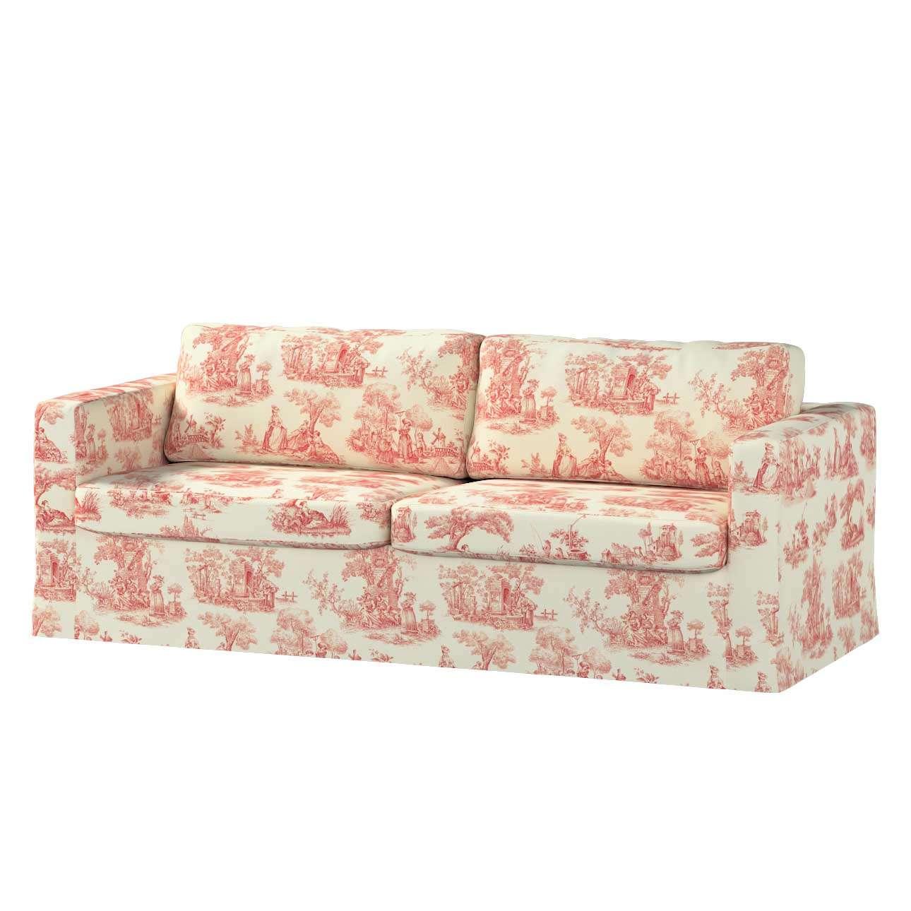Karlstad klädsel 3-pers. soffa -  lång - 204cm i kollektionen Avinon, Tyg: 132-15