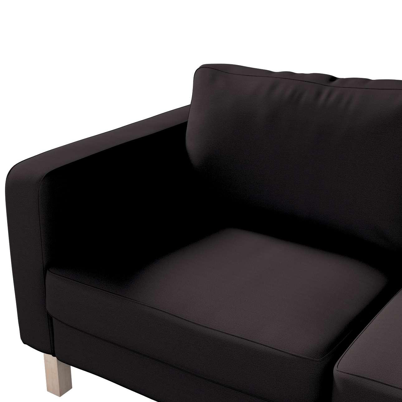 Karlstad klädsel 2-sits soffa - kort i kollektionen Panama Cotton, Tyg: 702-08